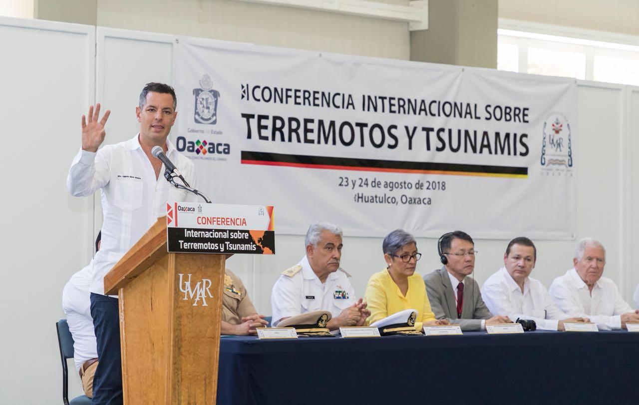 Photo of Inaugura Alejandro Murat Primera Conferencia Internacional sobre Terremotos y Tsunamis en Oaxaca