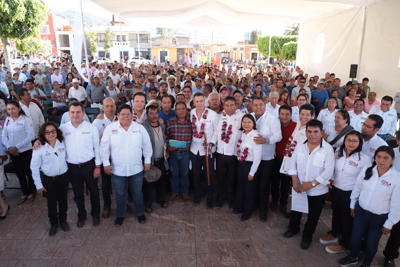 Photo of Contribuye Gobierno de Oaxaca en el mejoramiento de infraestructura social de Mitla