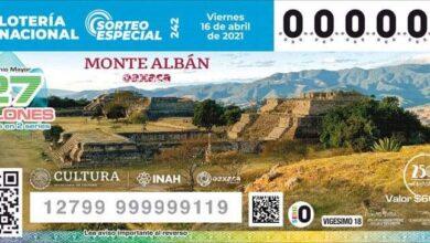 Photo of Develan billete de la Lotería Nacional alusivo a la zona arqueológica de Monte Albán