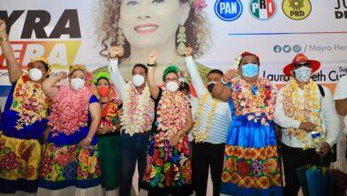 Photo of Mayra Herrera la única que incluye fórmula muxe' en su planilla